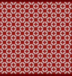 Winter knitted pattern grid pattern seamless wool vector