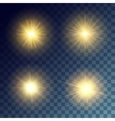 yellow suns set vector image