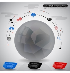 Abstract geometric ball infographics icons vector