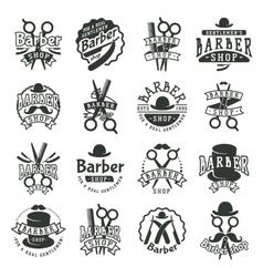 Barber badge vector image