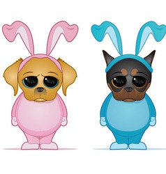 Easter dogs vector