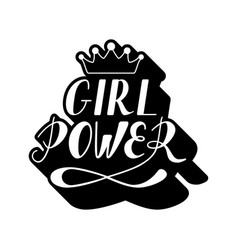 hand written lettering girl power vector image vector image