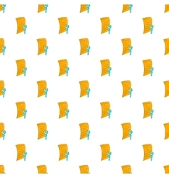 Paper and wrench pattern cartoon style vector image vector image