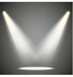 scene illumination from above transparent effects vector image