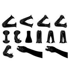 set of different staple removers vector image vector image