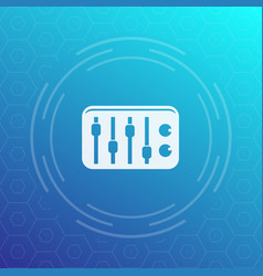 sound mixer icon vector image vector image