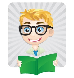 Studying Boys vector image