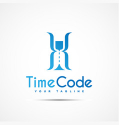 time code logo vector image vector image