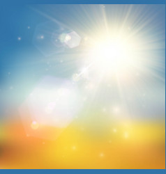Yellow and blue summer background vector