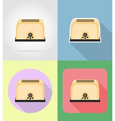 household appliances for kitchen 05 vector image vector image