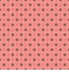 White And Brown Vintage Graphic On Pink Background vector image vector image