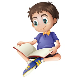 A young man reading vector image