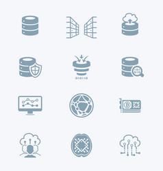 Big data icons - tech series vector