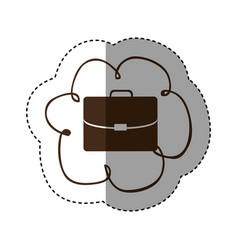 color cloud network service icon vector image