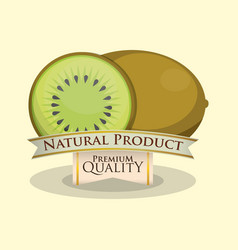 Kiwi natural product premium quality vector