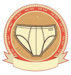 retro underwear label vector image vector image