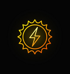solar energy concept colorful icon vector image vector image
