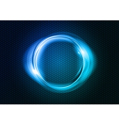 abstract round on black blue vector image vector image
