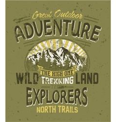 Great outdoor adventure vector image vector image
