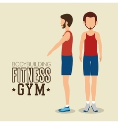 man pose different bodybuilding fitness gym icon vector image