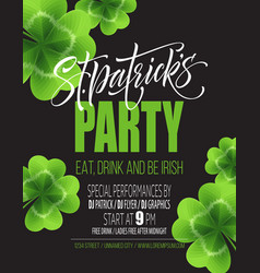 saint patricks day poster design background vector image vector image