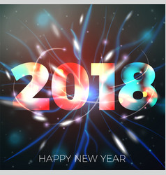 2018 new year vector