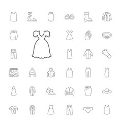 33 wear icons vector