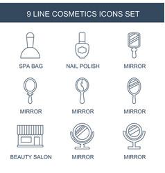 9 cosmetics icons vector