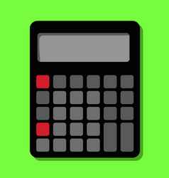 a large accounting calculator lies on table vector image