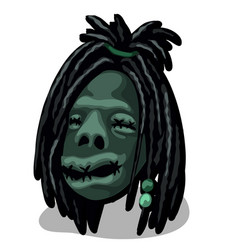 a shrunken head isolated on white background vector image