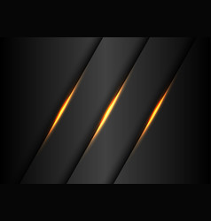 abstract gold lights slash on dark grey metallic vector image