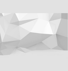 abstract white polygonal pattern on the wall vector image