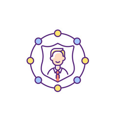 Accountability rgb color icon vector