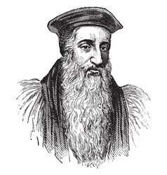 Archbishop cranmer vintage vector