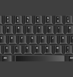 background computer keyboard close up vector image
