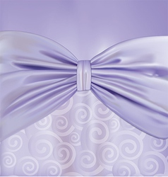 Background with curlicues ribbon and bow vector