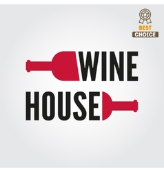 Badge or label for wine winery or wine house vector image