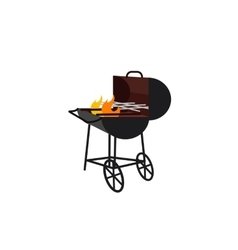 Barbecue gland with flame vector