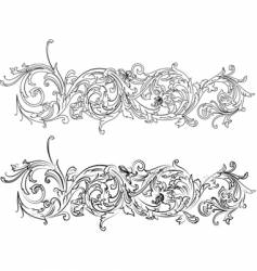Baroque border vector