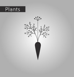 Black and white style icon of carrot vector