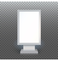 Blank advertising billboard vector