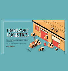 business delivery logistics company website vector image