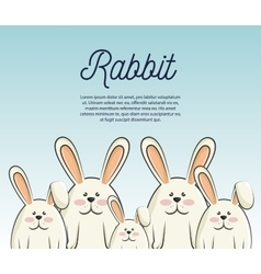 cartoon icon rabbit design isolated vector image