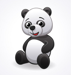 Cartoon panda sitting vector