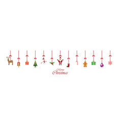 christmas decoration ornament hanging isolated on vector image
