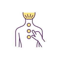 Chronic back pain treatment rgb color icon vector