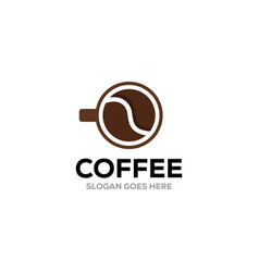 coffee cup logo design template coffee shop labels vector image