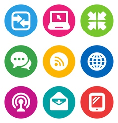 color communication icons vector image