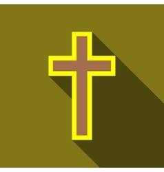 Cross icon flat style vector