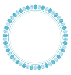 Cute blue circle balloon frame for birthday party vector